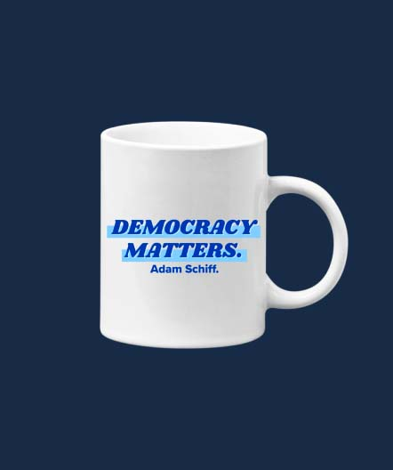 Democracy Matters white mug