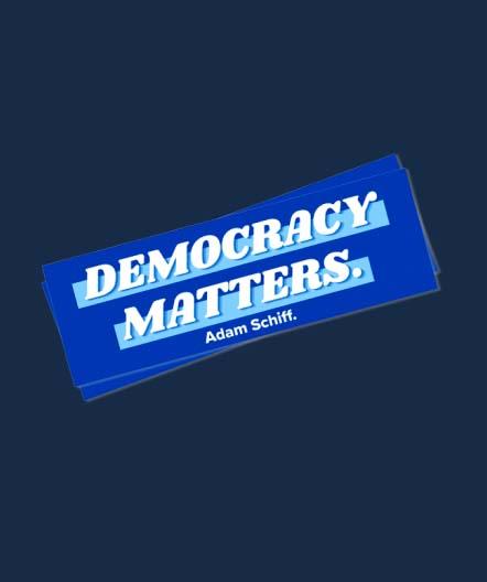 Democracy Matters bumper sticker